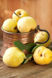 Ripe pears in copper jug Royalty Free Stock Photos