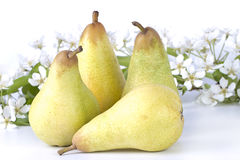 Ripe pears and flowers Stock Image