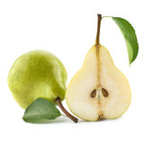 Ripe pears isolated Stock Photography