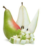 Ripe pears isolated over white Royalty Free Stock Images