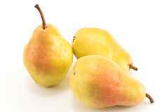 Ripe pears isolated on white Stock Photo