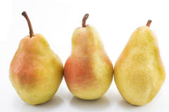 Ripe pears isolated on white Royalty Free Stock Photography