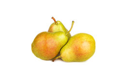 Ripe pears isolated on white. Background Stock Photo