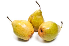 Ripe pears isolated on white background Stock Images