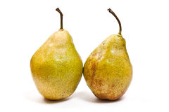 Ripe pears isolated on white background Stock Photo