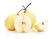 Ripe pears nashi Royalty Free Stock Images