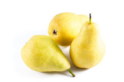 Ripe Pears studio isolated on white background Royalty Free Stock Photo
