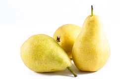 Ripe Pears studio isolated on white background Stock Photography
