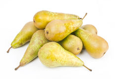Ripe Pears on white Stock Photos