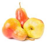 Ripe pears  on white Stock Photos