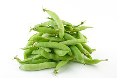 Ripe peas. Hill of green peas in pods Stock Photo