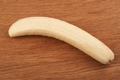 Ripe peeled banana Royalty Free Stock Photography