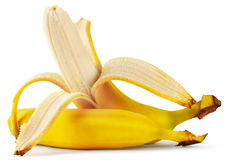 Ripe peeled banana Stock Image