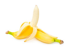 Ripe peeled bananas Royalty Free Stock Photography