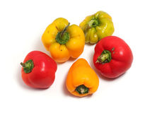 Ripe peppers orange and red Stock Photos