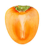 Ripe persimmon isolated Stock Image