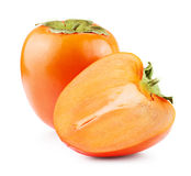 Ripe persimmon isolated Stock Images