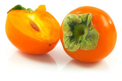 Ripe persimmon Royalty Free Stock Image