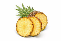 Ripe pineapple. On white background Stock Photo