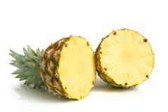 Ripe pineapple. On white background Stock Photography
