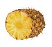 Ripe pineapple isolated on white stock photos