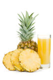 Ripe pineapple and juice glass Royalty Free Stock Photo