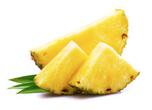 Ripe pineapple with leaf. Stock Image