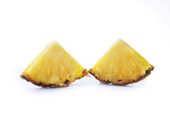 Ripe pineapple. Pieces of sliced of fresh ripe pineapple Stock Photography