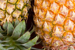 Ripe pineapple shell  on texture background healthy pineapple fruit food  Stock Photo