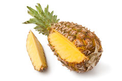 Ripe pineapple with slice Stock Photography