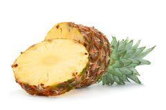 Pineapple tropical fruit closeup Stock Photos