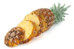 Pineapple tropical fruit closeup Stock Images