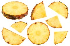 Ripe Pineapple collection royalty free stock photos