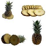 Ripe pineapple. Pineapple Vitamin Tasty Juicy Ripe Colour Liszt Juice Dessert Fresh royalty free stock images