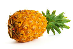 Ripe pineapple on white background, pineapple on isolated background Royalty Free Stock Photos