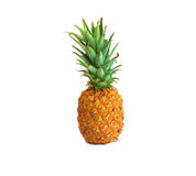 Ripe pineapple on white background, pineapple on isolated background Stock Photo