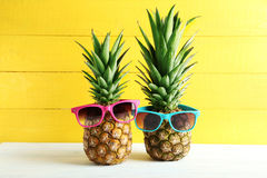 Ripe pineapples Stock Photography