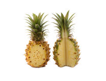 Ripe pineapples on white Stock Images