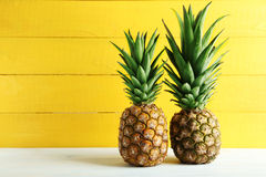 Ripe pineapples Royalty Free Stock Image