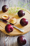 Ripe plum Stock Images