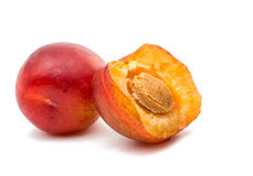 Ripe plum isolated Royalty Free Stock Images