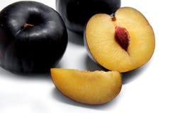 Ripe plum. Plum on white background. Stock Image
