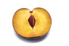Ripe plum. Plum on white background. Stock Photography