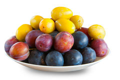 Ripe plum on table Stock Photography