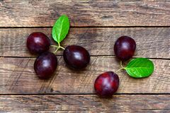 Ripe plums on table Royalty Free Stock Photo