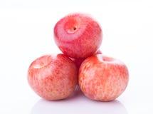 Ripe pluot plums Stock Photo