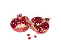 Ripe pomegranate. Stock Images