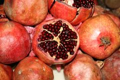Ripe pomegranate Stock Photos