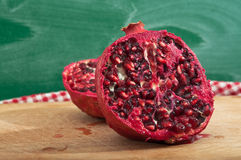 Ripe pomegranate fruit Stock Photo