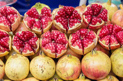 Ripe pomegranate fruit Stock Images